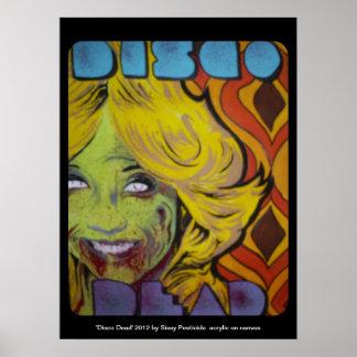 """Poster Affiche morte de zombi de """"disco"""""""