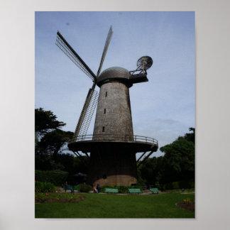 Poster Affiche néerlandaise de moulin à vent de San