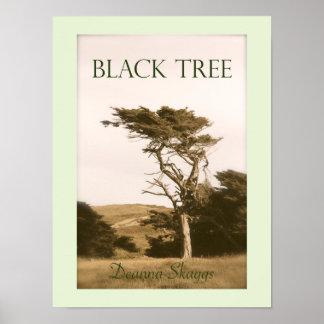 Poster Affiche noire d'arbre