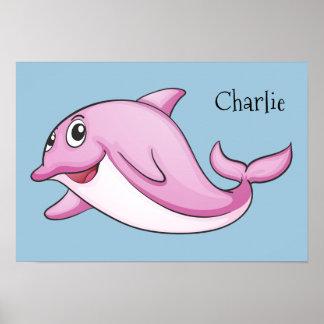 Poster Affiche nommée faite sur commande de dauphin