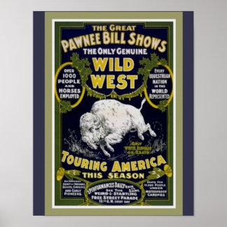 Poster Affiche occidentale sauvage 11 x14 de l'exposition