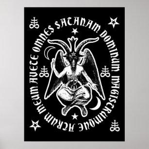 "Poster Affiche occulte latine de Satan"" Baphomet ""de"
