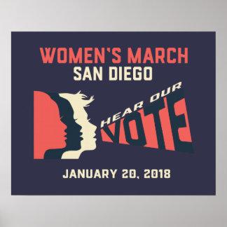 Poster Affiche officielle de mars San Diego mars des