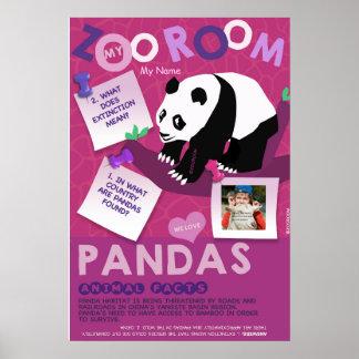 Poster Affiche-Panda d'Affiche-Animal de conservation