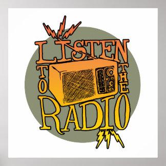 Poster Affiche par radio