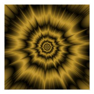 Poster Affiche parfaite de Zazzle d'explosion d'or jaune