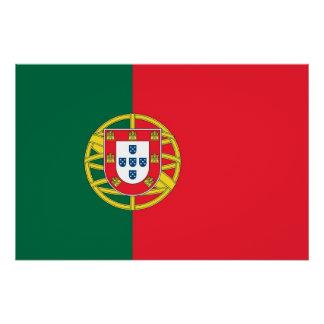 Poster Affiche patriotique avec le drapeau du Portugal