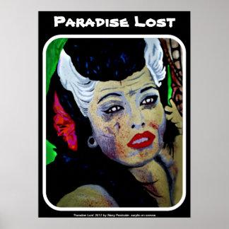 """Poster Affiche perdue """"par paradis"""""""