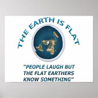 Poster Affiche plate de la terre