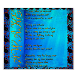 Poster Affiche plate de poème de la terre