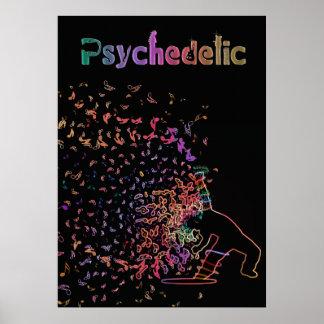 Poster Affiche psychédélique magique de musique de danse