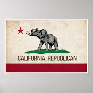 Poster Affiche républicaine de GOP de la Californie