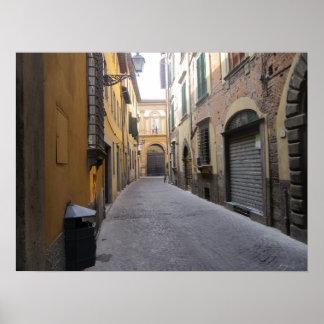 Poster Affiche--Rue italienne