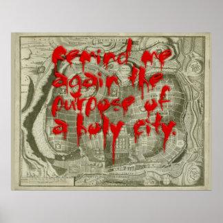 Poster Affiche sainte de ville de sang