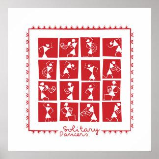 Poster Affiche solitaire de danseurs