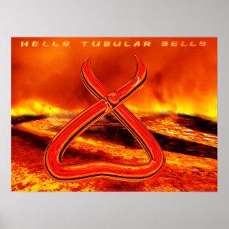 Poster Affiche tubulaire de Bells 24x16 de l'enfer