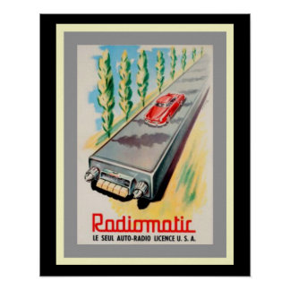 Poster Affiche vintage 16 x 20 d'annonce de Radiomatic