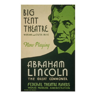 Poster Affiche vintage d'Abraham Lincoln