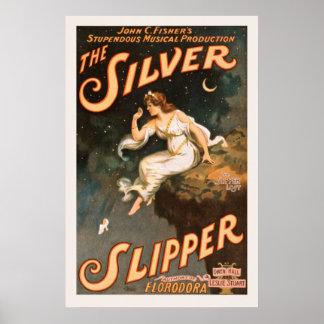 Poster Affiche vintage d'arts du spectacle
