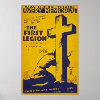 Poster Affiche vintage de jeu de jésuite