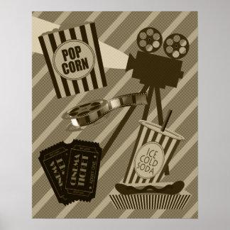 Affiche vintage de salle de cinéma