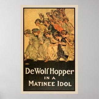 Poster Affiche vintage de théâtre de matinée