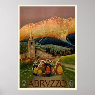 Poster Affiche vintage de voyage d'Abrvzzo
