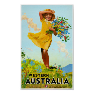 Poster Affiche vintage de voyage reconstituée par