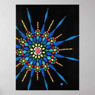 Poster Affiches colorées de peinture de mosaïque de