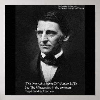 """Poster Affiches de citation """"de sagesse commune"""" de Ralph"""