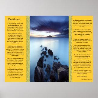 Poster Affiches de passage couvert d'océan de desiderata
