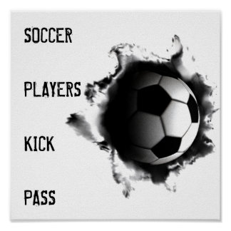 Poster affiches du football