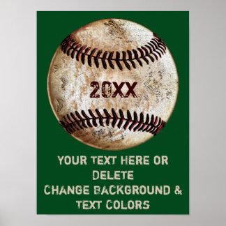Poster Affiches faites sur commande de base-ball avec vos