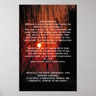 Poster Affiches rouges de passage couvert de DESIDERATA