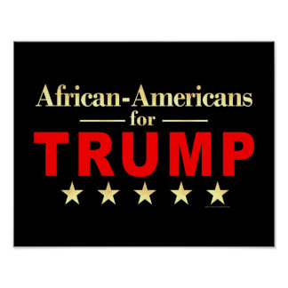 Poster Afros-Américains pour Donald Trump 2016