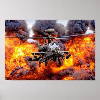 Poster AgustaWestland Apache AH1