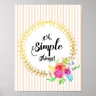 Poster Ah, choses simples !