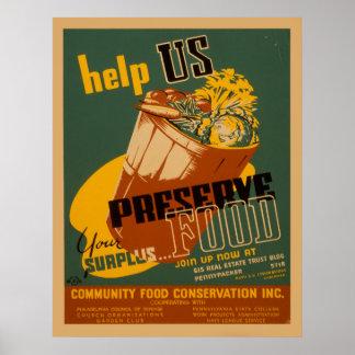 Poster Aidez-nous à préserver votre affiche en surplus de