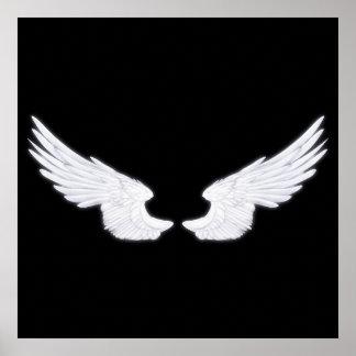 Poster Ailes blanches d'ange de Falln