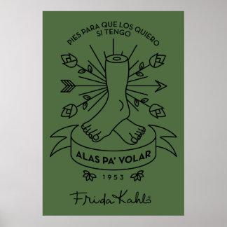 Poster Ailes de Frida Kahlo | à voler