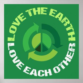 Poster Aimez l'amour de la terre