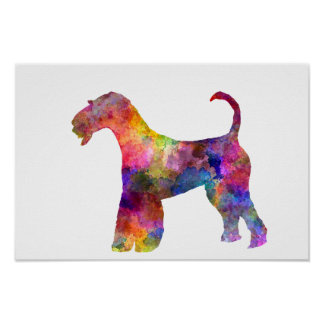 Poster Airedale Terrier 01 in watercolor 2