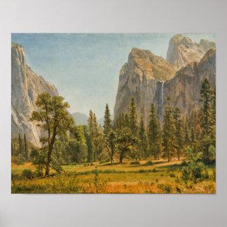 Poster Albert Bierstadt - automnes nuptiales de voile,
