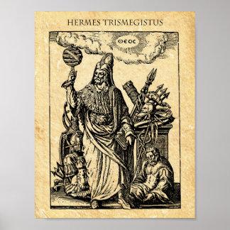 POSTER ALCHIMIE HERMES TRISMEGISTUS