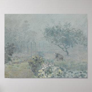 Poster Alfred Sisley - brouillard, Voisins