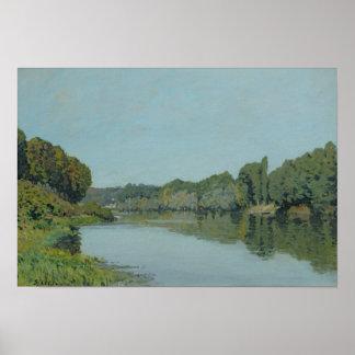 Poster Alfred Sisley | la Seine chez Bougival