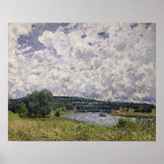Poster Alfred Sisley | la Seine chez Suresnes
