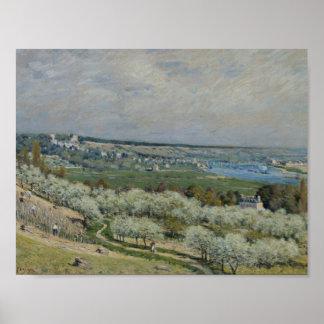 Poster Alfred Sisley - la terrasse chez Saint-Germain