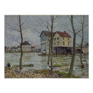 Poster Alfred Sisley | les moulins au Moret-sur-Loing
