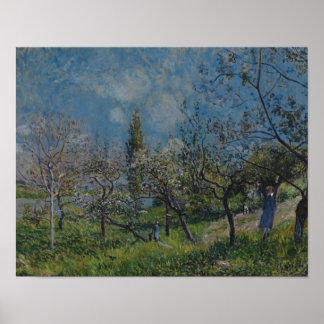 Poster Alfred Sisley - verger au printemps, par